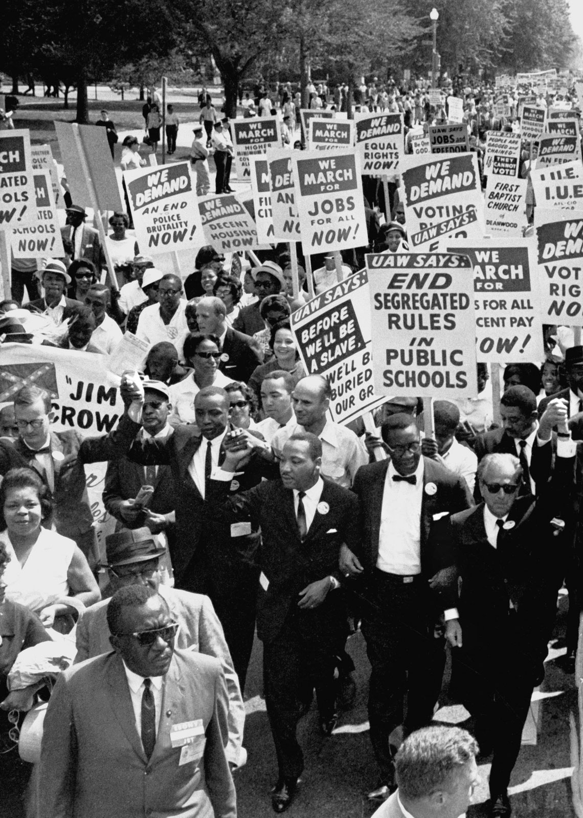 Martin Luther King Jr civil rights supporters August 19631